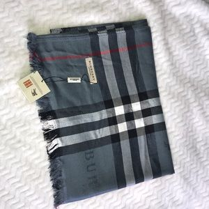 Authentic Burberry Equestrian Knight Check Scarf